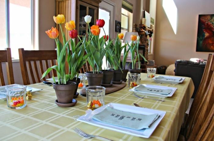 primavera casa opciones decorar comedor tulipanes ideas