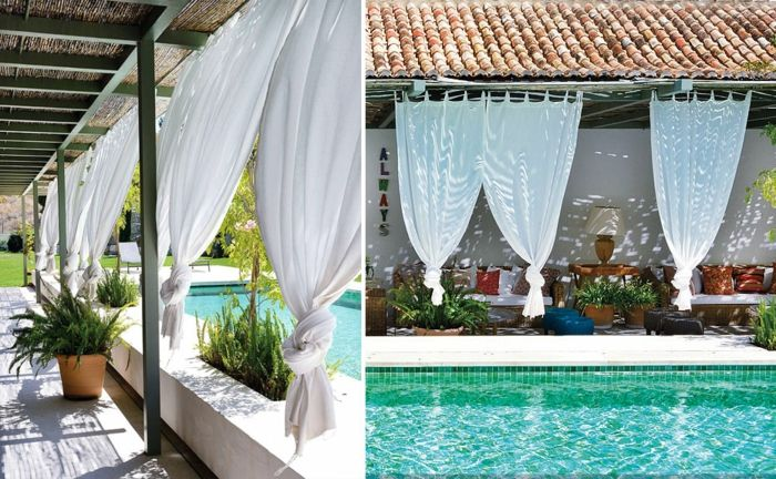 primavera jardines elegantes espacios piscina macetas