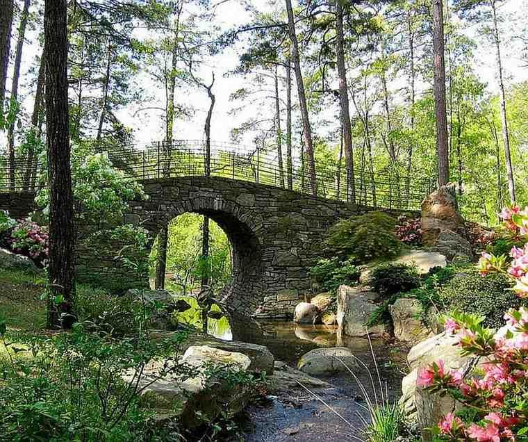 puentes jardín piedra natural