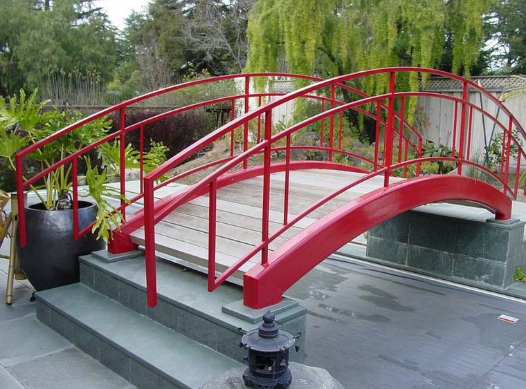 puentes modernos deco jardines