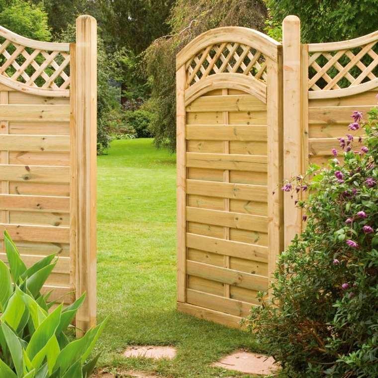 Puertas de jardin arcos verjas cancelas vallas y for Puerta jardin madera