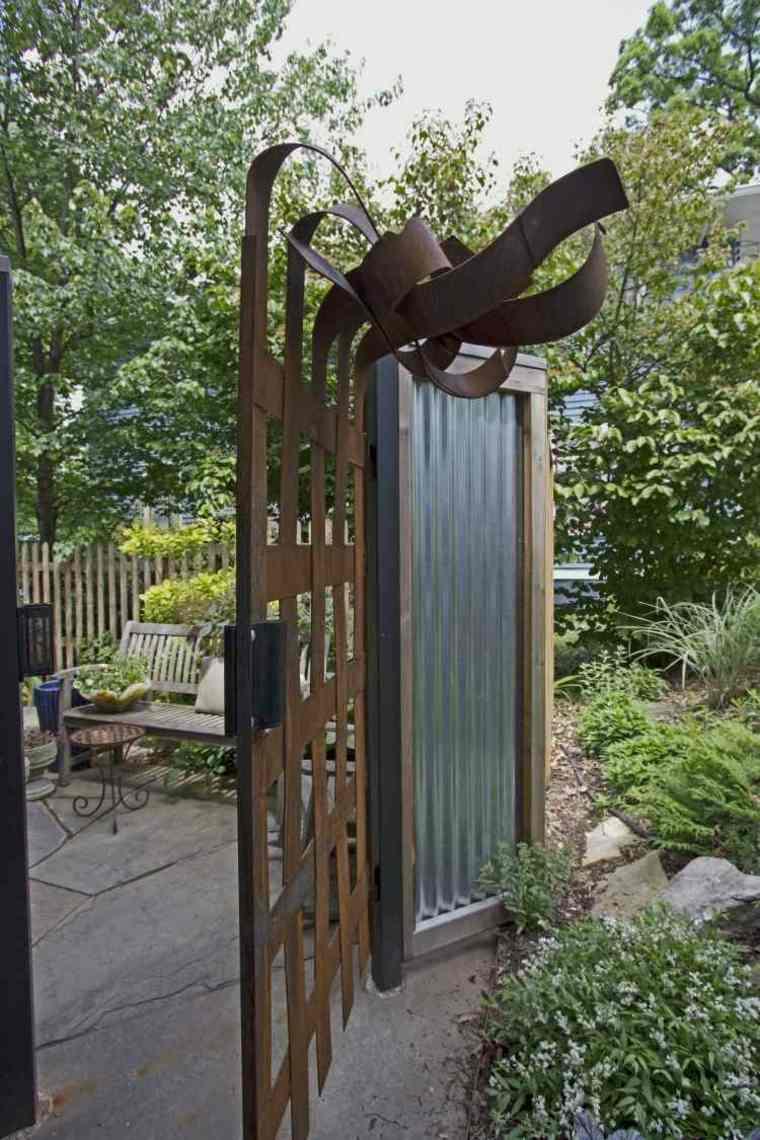 puerta acero estilo contemporáneo