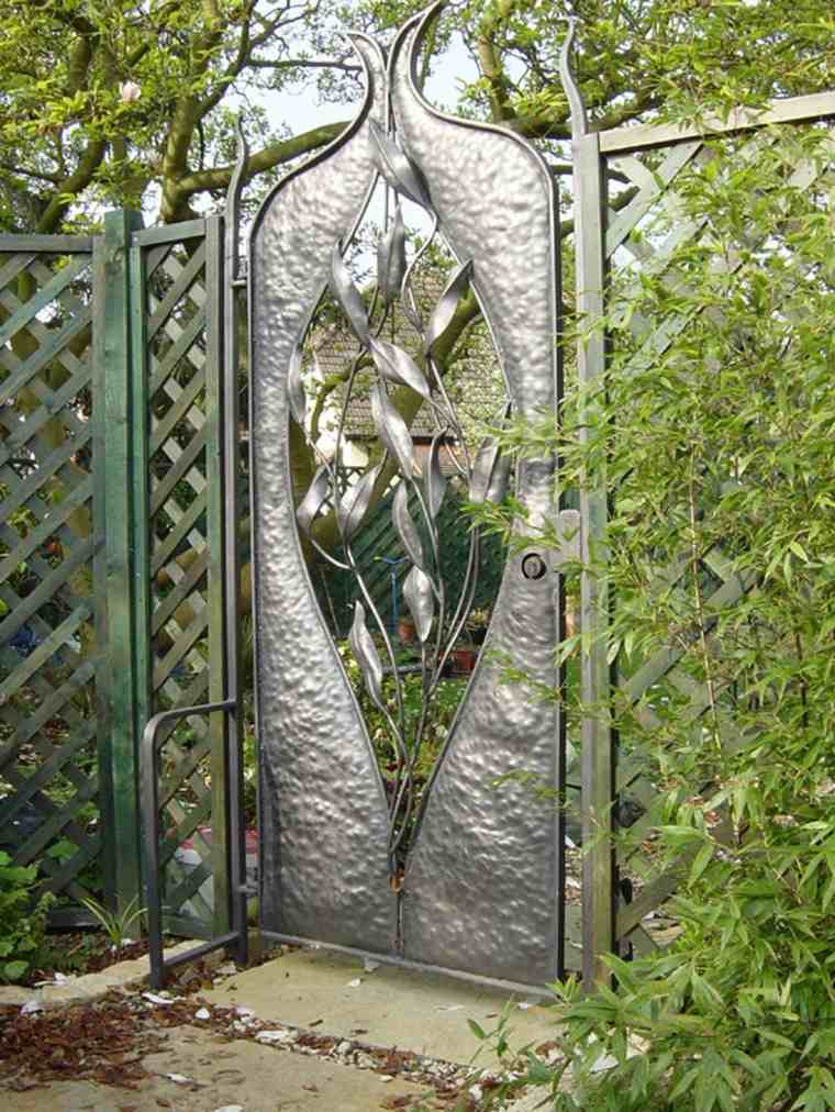 puerta original diseño vegetales