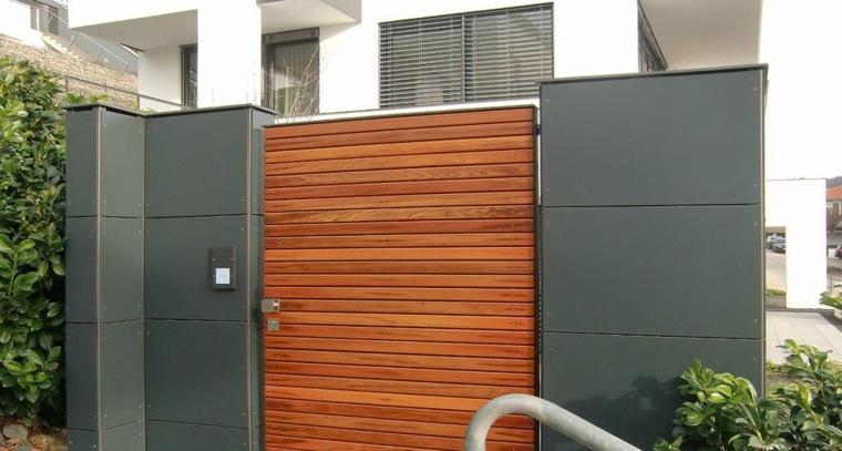 diseño moderno puerta madera