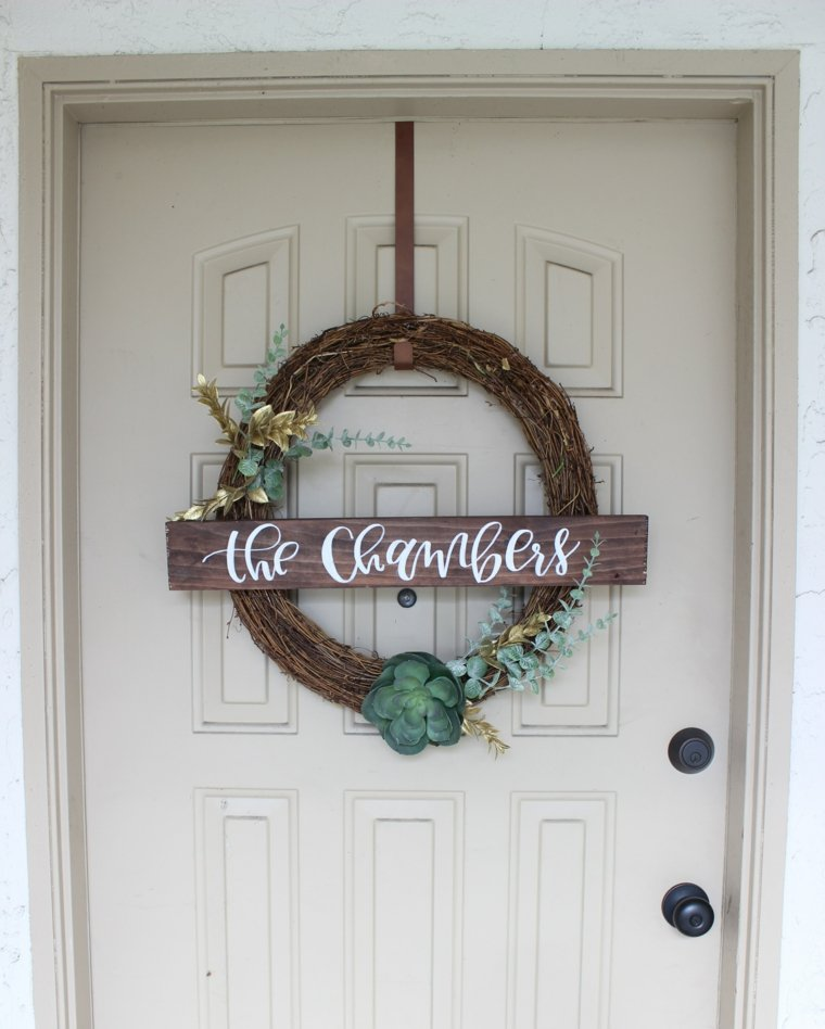 puerta opciones corona cartel nombre familia ideas