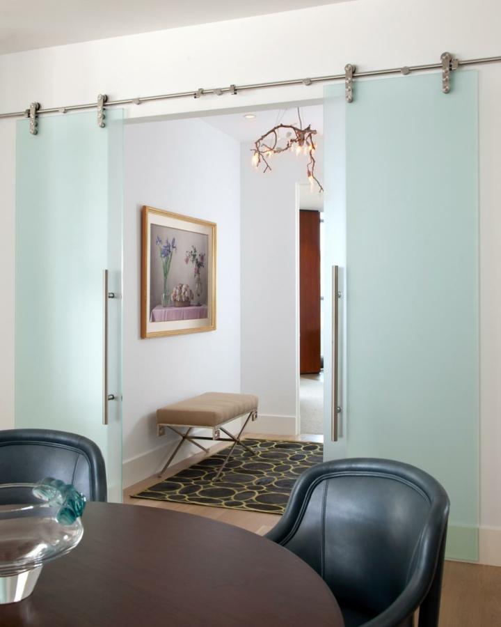 Puertas correderas dise o tipo granero 75 ideas incre bles for Cristales para puertas de salon