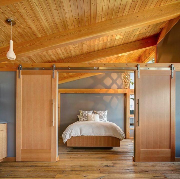 puertas correderas diseño faroles habitaciones blanco
