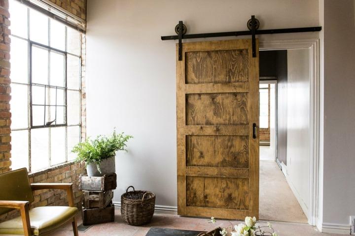 Puertas correderas dise o tipo granero 75 ideas incre bles - Puerta corredera industrial ...