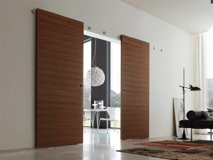 Puertas correderas dise o tipo granero m s de 70 ideas - Rieles puerta corredera ...