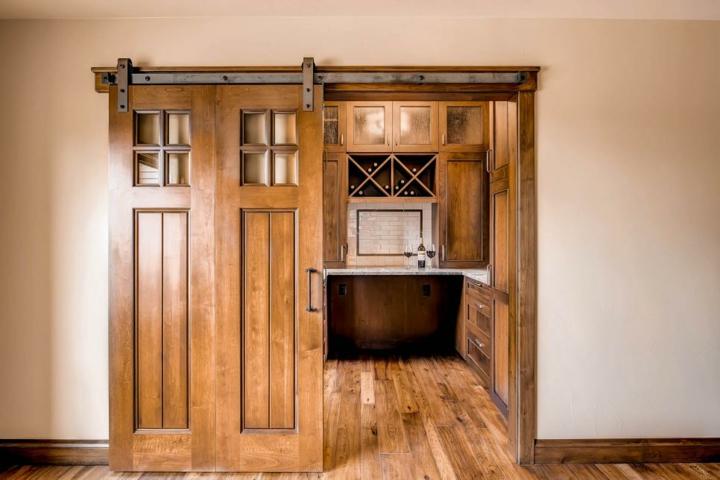 puertas correderas diseño sala estar cocinas