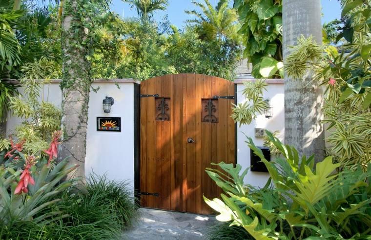 puertas diseño estilo tropical