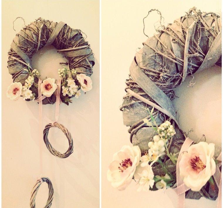 ramas flores tela decorar casa primavera ideas