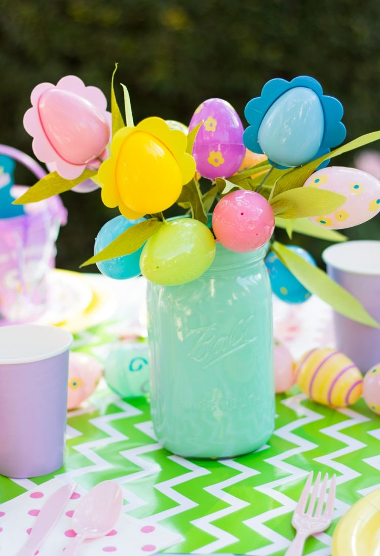 ramo flores huevos pascua