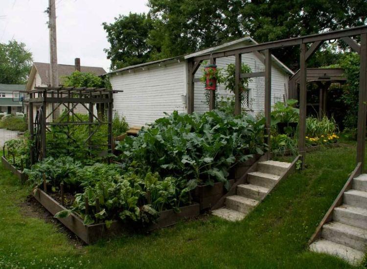 rampa jardín bonito diseño