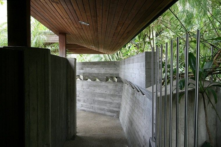 residencia colina casa paredes hormigon ideas