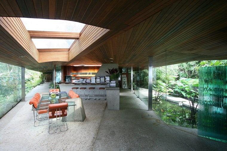 residencia colina comedor mesa cristal ideas