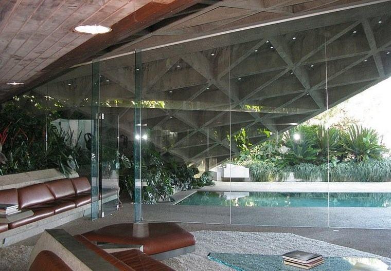 residencia colina cristales casa luminosa ideas