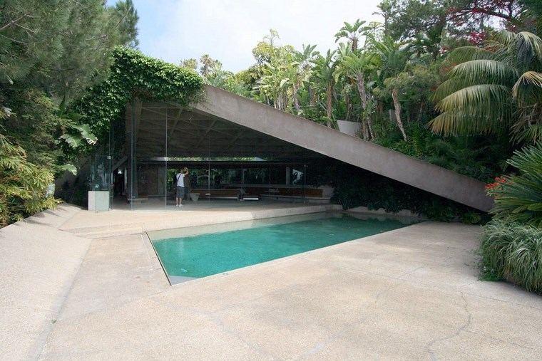 residencia colina jardin piscina plantas ideas