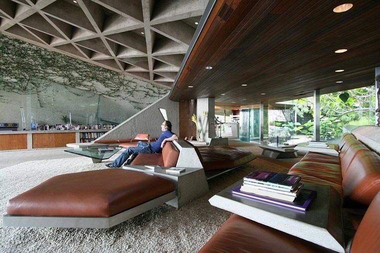 residencia colina salon muebles cuero ideas