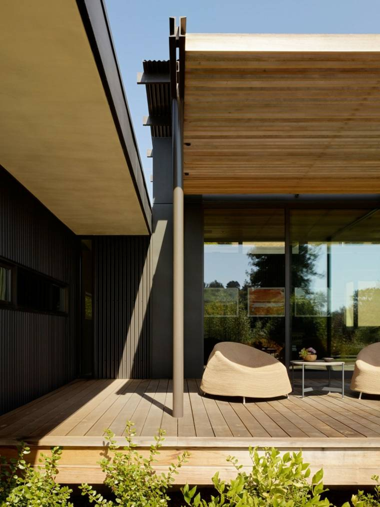 residencias diseno terraza muebles comodos ideas