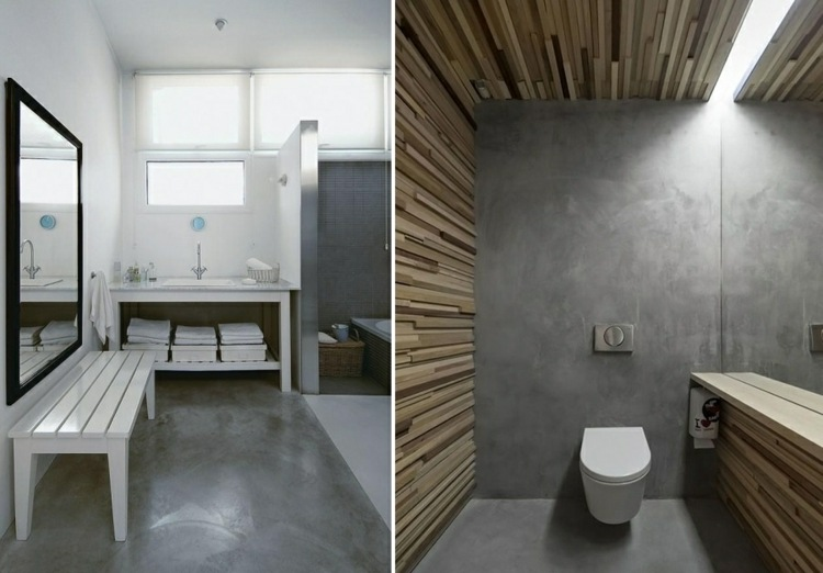 revestimiento cuarto baño microcemento gris