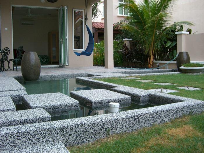 rocas elementos peces acuaticas patios