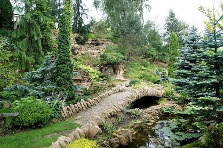 rocas naturales pinos puentes rio