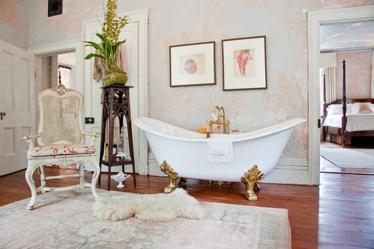 Romanticismo y dulzura en el baño - 50 diseños Shabby Chic