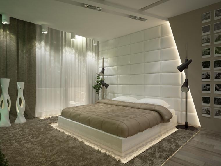 room design cama beige lujosa