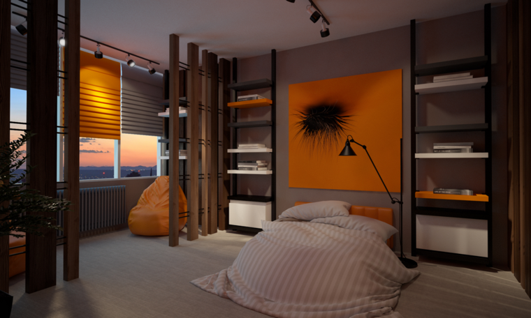 room design deco color naranja