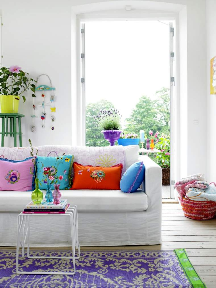 Ideas para decorar la sala de estar en primavera - Ideas para decorar vestibulos ...