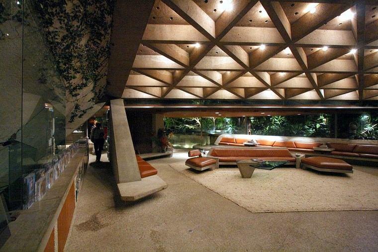 salon amplio iluminacion muebles diseno ideas