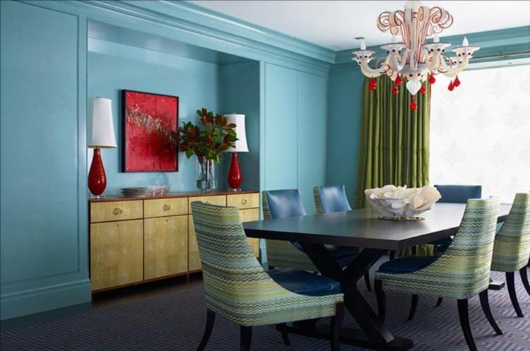 salón comedor azul celeste