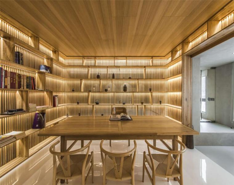 salón comedor madera la villa