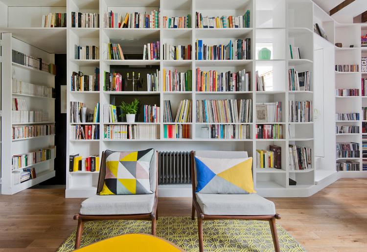 Optimizador de espacios 25 opciones de librerias for Salon diseno