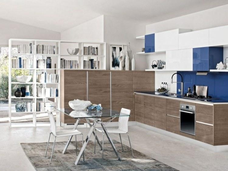 separadores espacios modernos salas azules