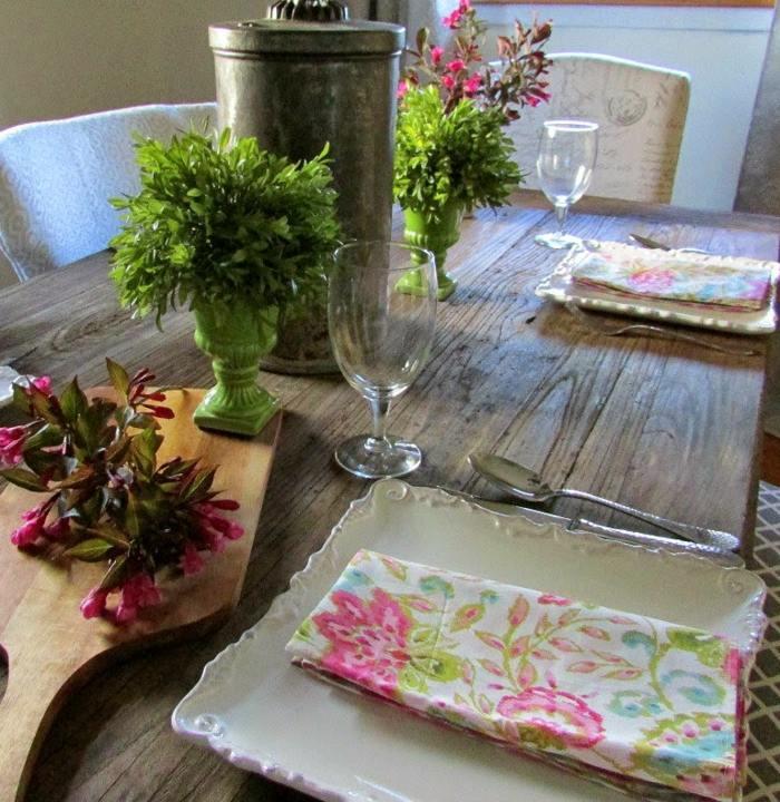 servilletas tela estampa floral plantas ideas