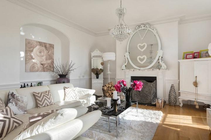 shabby chic salones puertas blanco muebles