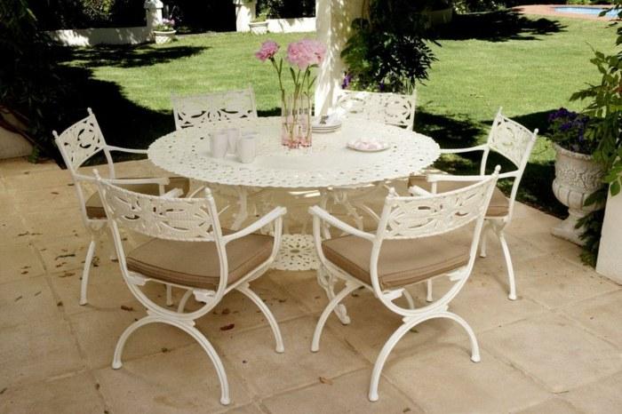 sillas blancas flores estado muebles sombras
