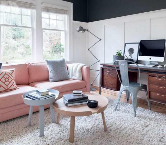 sofa mesitas colores pastel salon ideas