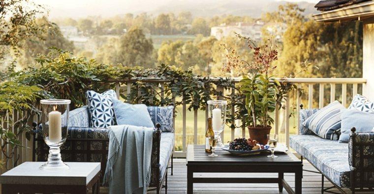sofas acero mesa madera terraza opciones ideas