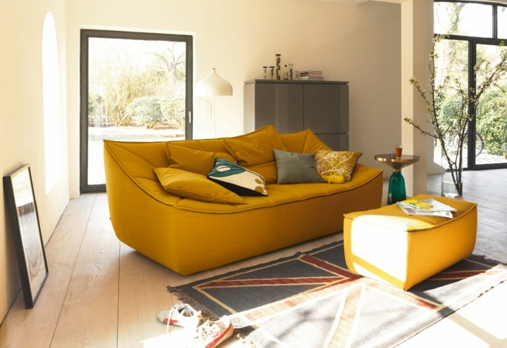sofas mobiliario colores espejos cristales