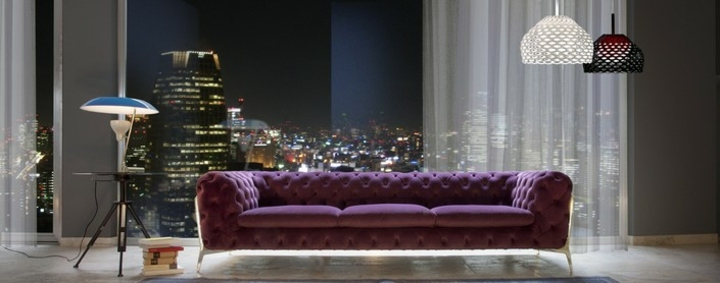 sofas mobiliario cortinas salidas color