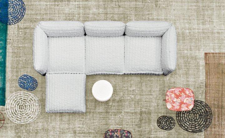 sofas mobiliario mesas azules modulos