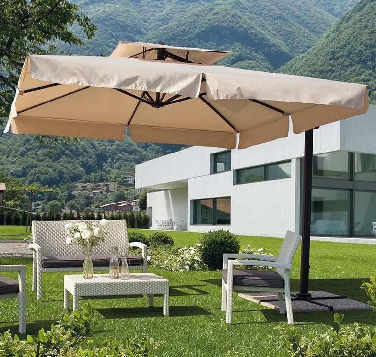 sol y sombra aire libre opciones jardin cesped ideas