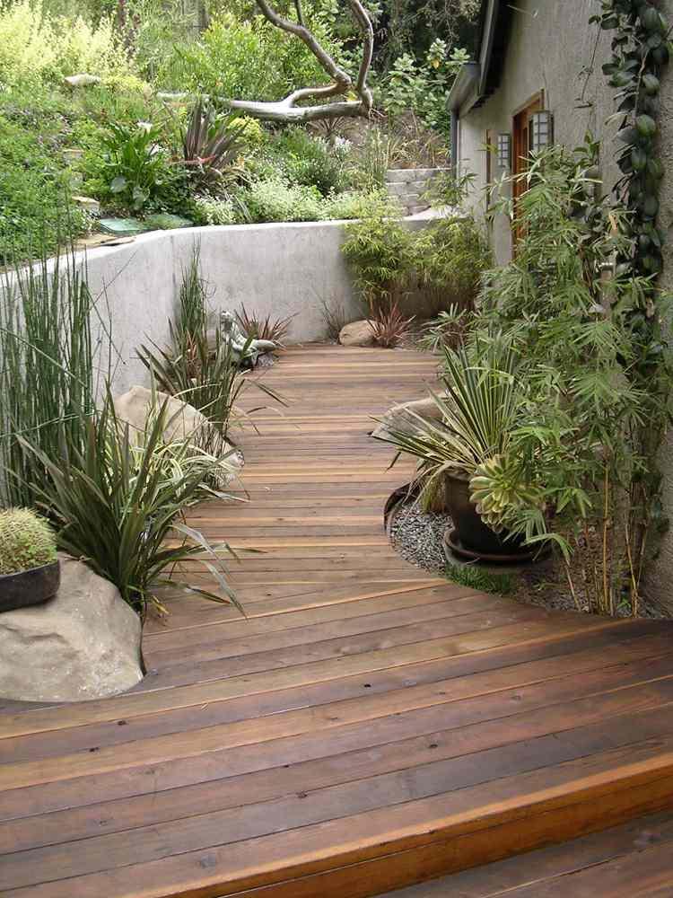 suelo madera camino casa plantas ideas