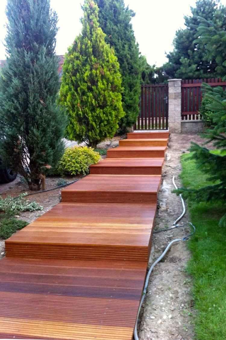 Suelos de madera 50 ideas de terrazas preciosas - Suelos para jardines pequenos ...