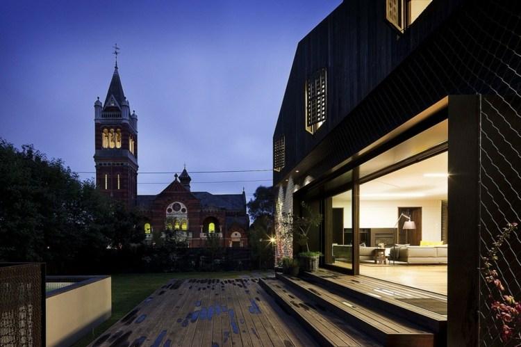 suelo madera terraza diseno simple ideas