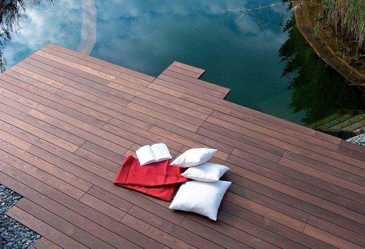 suelo madera terraza eleccion moderna ideas