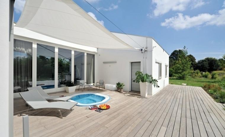 suelo madera terraza moderna madera color claro ideas